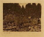 volume 11 facing: page  60 Old houses : Neah Bay - photogravure plate