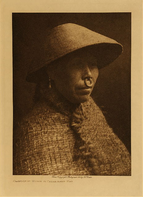 volume 11  facing: page  62 Clayoquot woman in cedar-bark hat