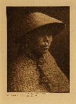 volume 11 facing: page  62 Clayoquot woman in cedar-bark hat - photogravure plate