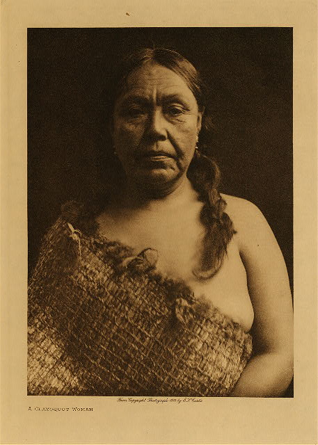 volume 11  facing: page  96 A Clayoquot woman