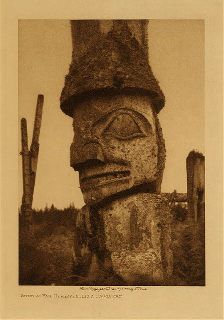 volume 11  facing: page  126 Totem at Yan, representing a Caucasian