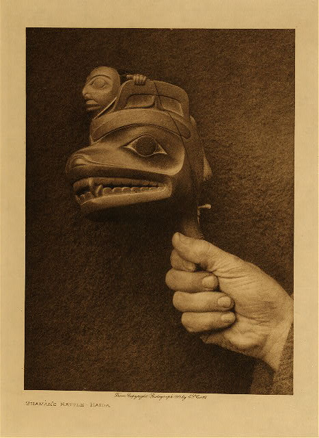 volume 11  facing: page  142 Shaman's rattle - Haida