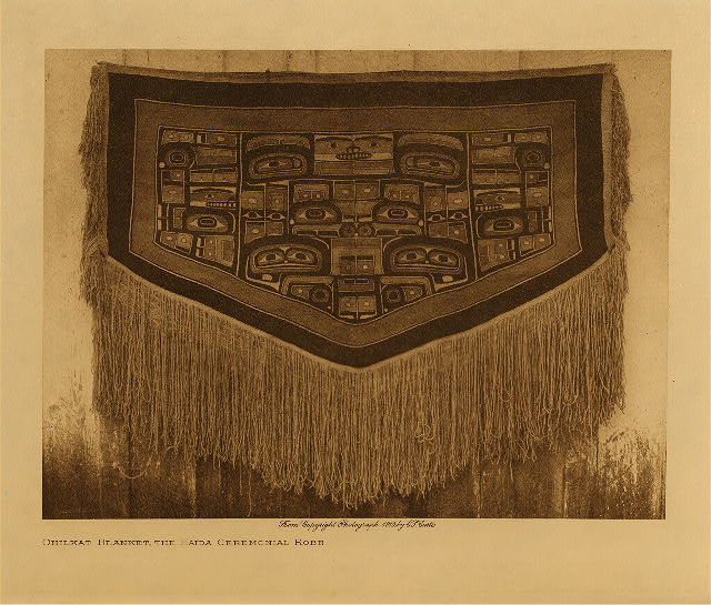 volume 11  facing: page  144 Chilkat blanket, the Haida ceremonial robe