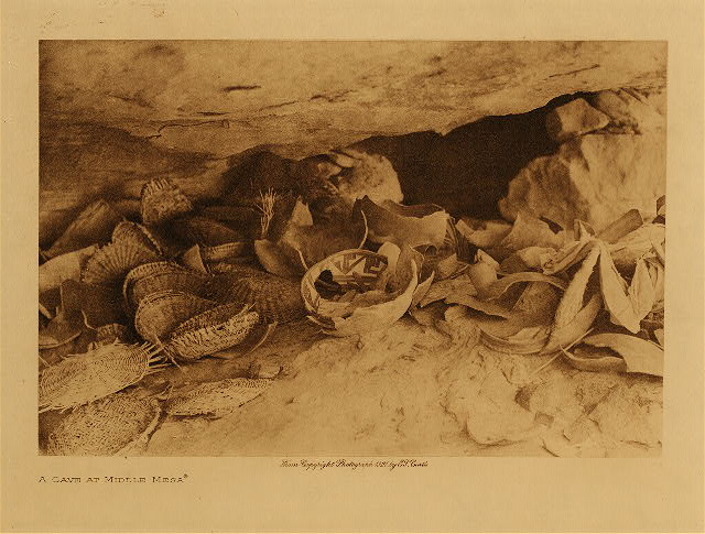 volume 12  facing: page  38 A cave at Middle Mesa