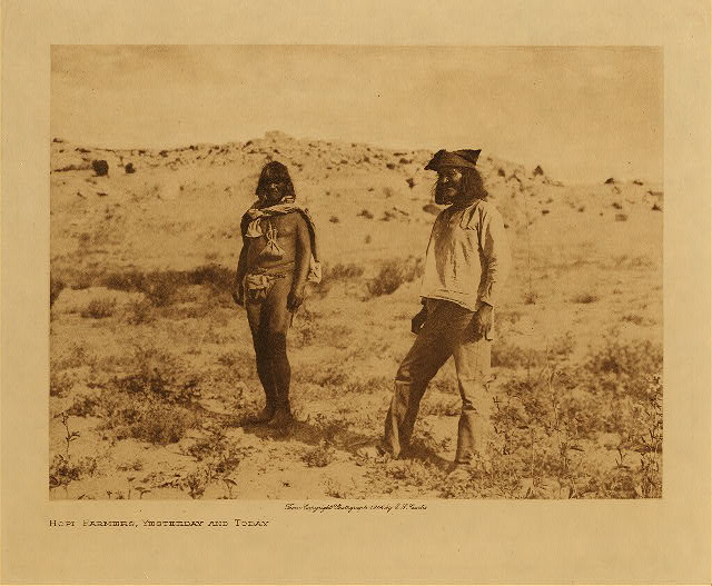 volume 12  facing: page  52 Hopi farmers, yesterday and today