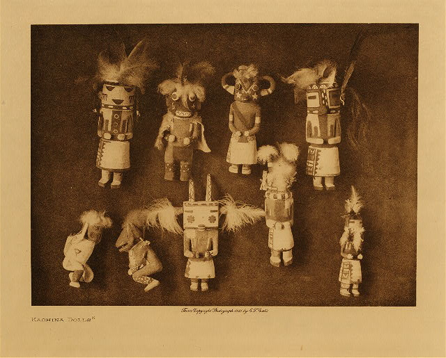 volume 12  facing: page  100 Kachina dolls