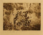 volume 12 facing: page  168 Dressing at Tawapa Spring, Walpi flute ceremony - photogravure plate