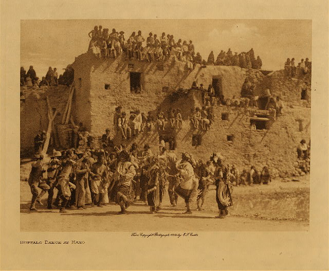 volume 12  facing: page  178 Buffalo dance at Hano