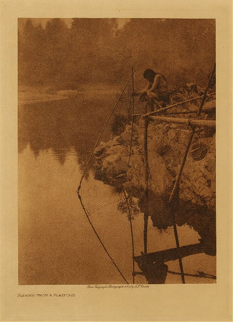 volume 13 Frontispiece Fishing from a platform
