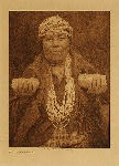 volume 13 facing: page  28 Hupa female shaman - photogravure plate