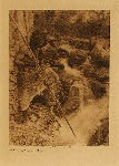 volume 13 facing: page  42 Watching for salmon - Hupa - photogravure plate