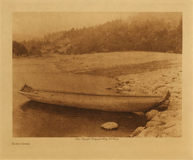 volume 13  facing: page  44 Hupa canoe