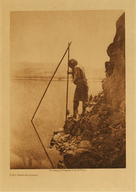 volume 13  facing: page  46 Hupa salmon-fishing