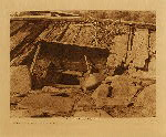 volume 13 facing: page  56 Entrance to a Yurok sweat-house - photogravure plate