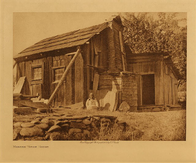 volume 13  facing: page  60 Modern Yurok house
