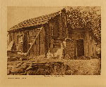 volume 13 facing: page  60 Modern Yurok house - photogravure plate