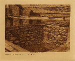 volume 13 facing: page  82 Old sweat-house walls at Orleans bar - Karok - photogravure plate