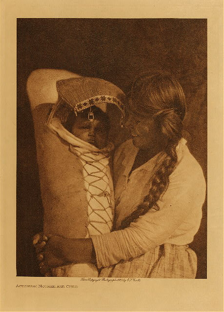 volume 13  facing: page  136 Achomawi mother and child