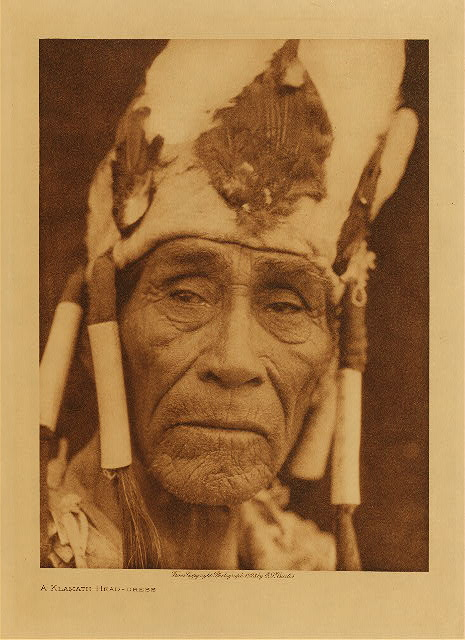 volume 13  facing: page  174 A Klamath head-dress