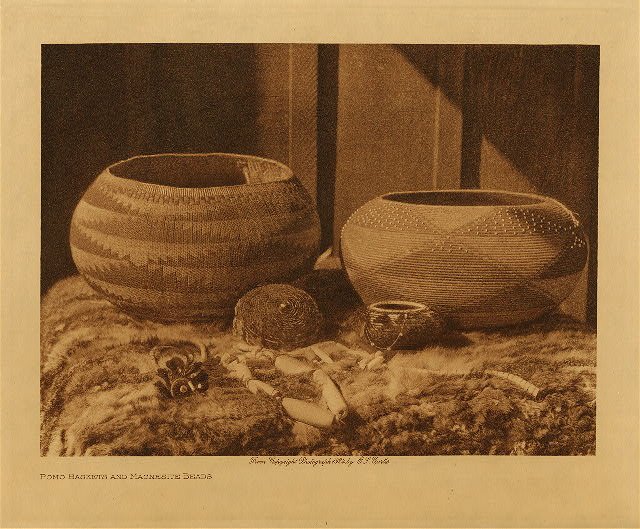 volume 14  facing: page  60 Pomo baskets and magnesite beads