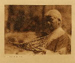 volume 14 facing: page  100 Sifting basket - Southern Miwok - photogravure plate