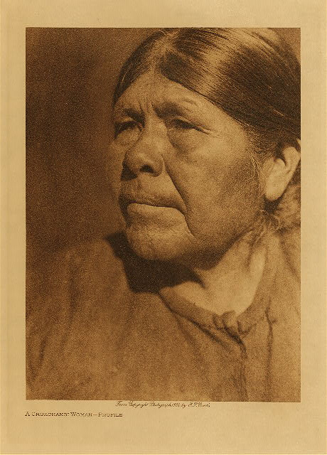volume 14  facing: page  122 A Chukchansi woman - Profile