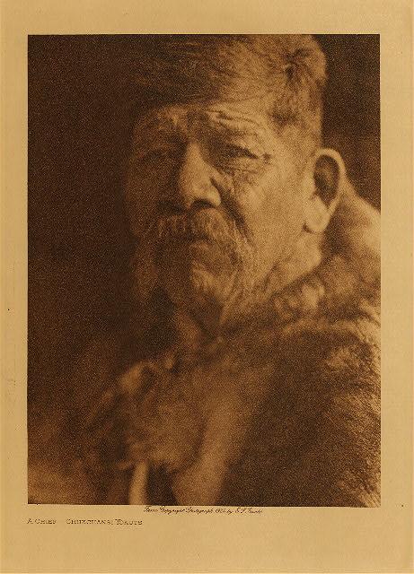 volume 14  facing: page  138 A chief - Chukchansi Yokuts