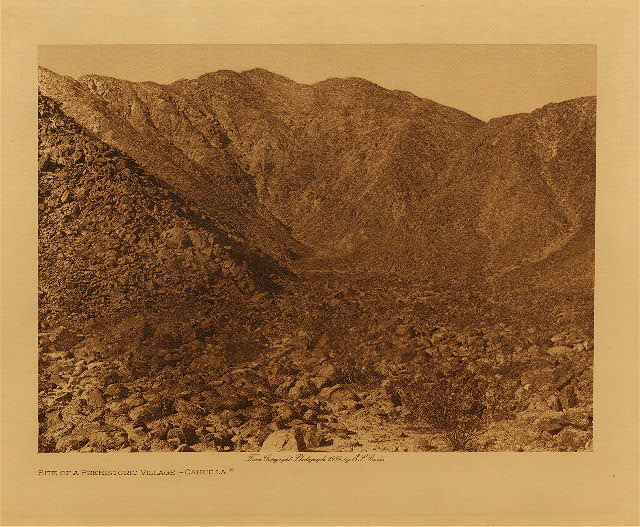 volume 15  facing: page  22 Site of a prehistoric village - Cahuilla