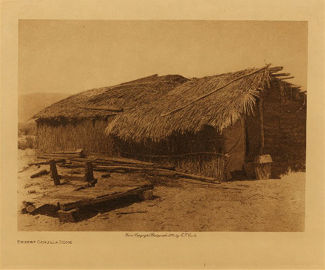 volume 15  facing: page  36 Desert Cahuilla home