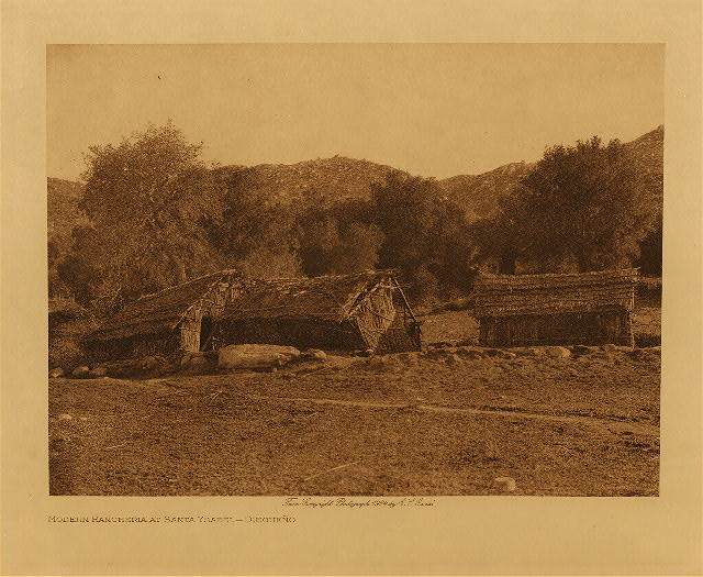volume 15  facing: page  38 Modern rancheria at Santa Ysabel - Diegue&ntilde;o