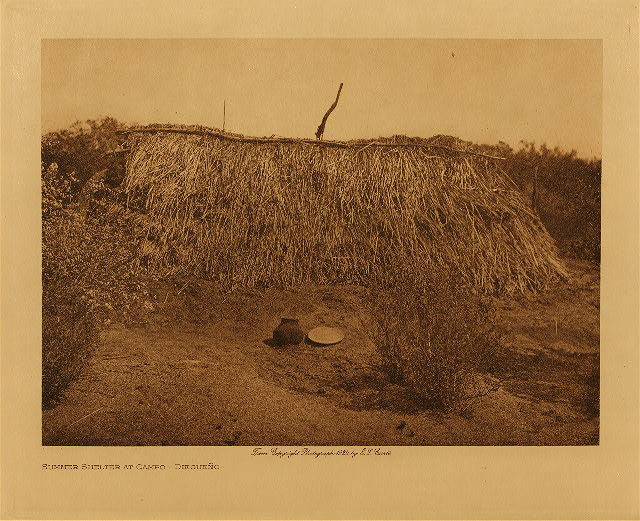 volume 15  facing: page  52 Summer shelter at Campo - Diegueño