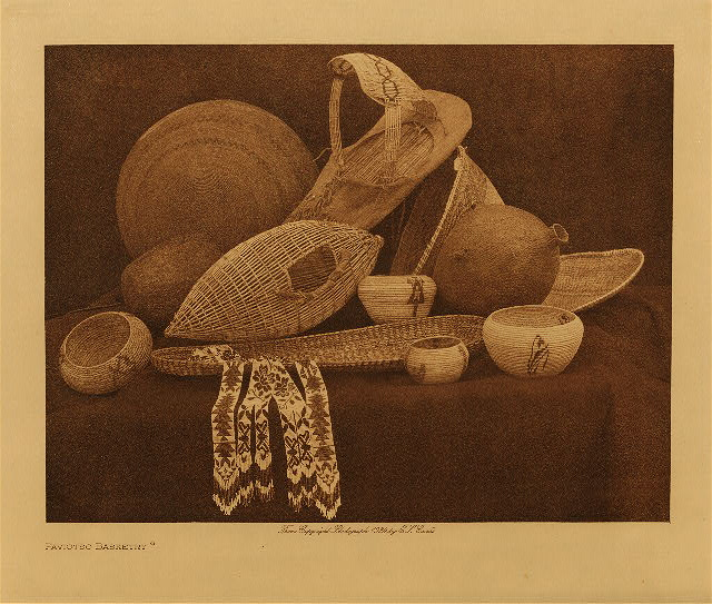 volume 15  facing: page  74 Paviotso basketry