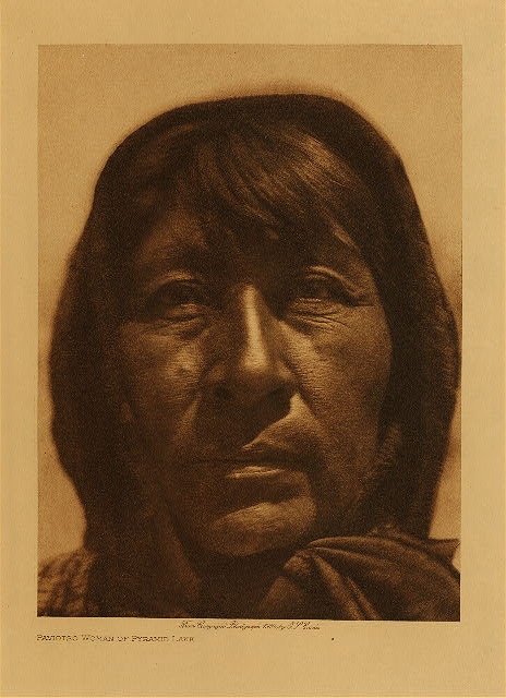 volume 15  facing: page  80 Paviotso woman of Pyramid Lake