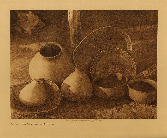 volume 15  facing: page  110 Chemehuevi basketry and pottery