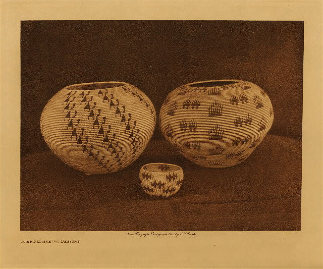 volume 15  facing: page  154 Washo basketry designs