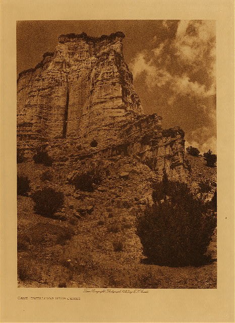 volume 16  facing: page  6 Cave dwelling near Jemez