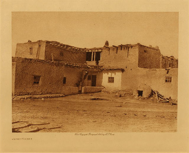 volume 16  facing: page  34 Jemez houses