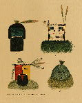 volume 16 facing: page  152 Native drawings of Santo Domingo masks - photogravure plate