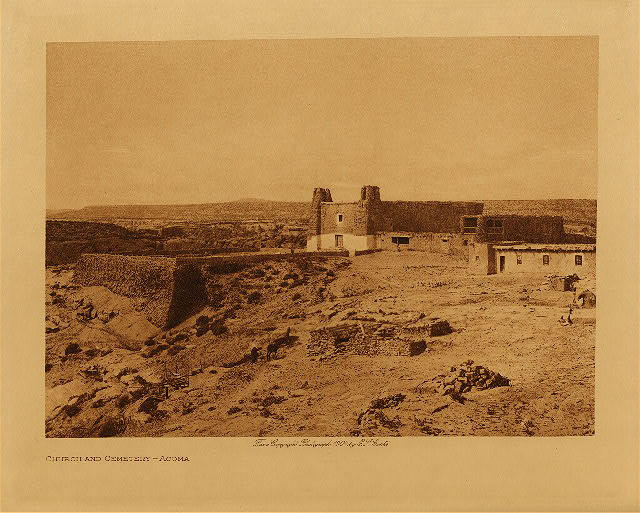 volume 16  facing: page  208 Church and cemetery - Acoma
