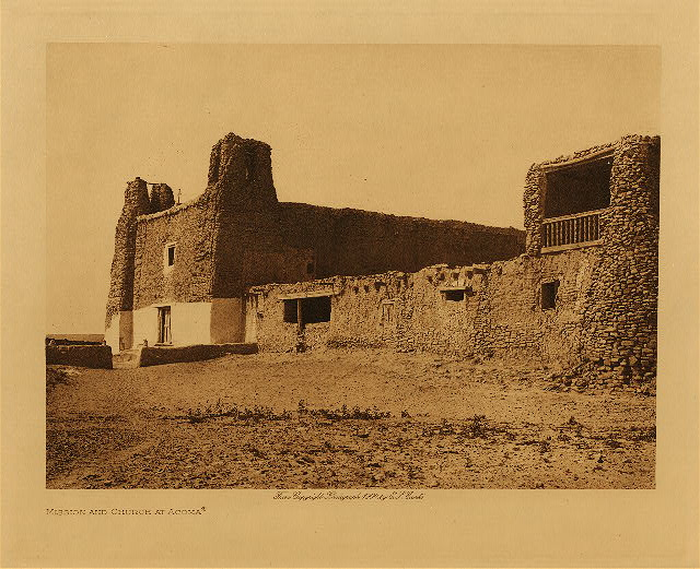 volume 16  facing: page  216 Mission and church at Acoma