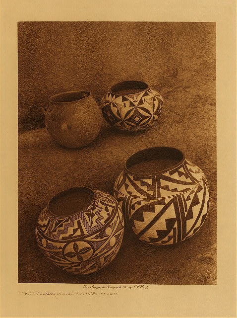 volume 16  facing: page  228 Laguna cooking-pot and Acoma water-jars