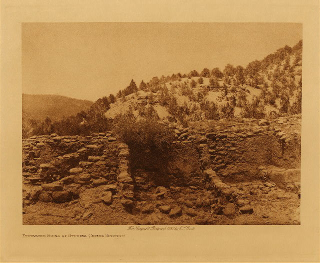 volume 16  facing: page  250 Excavated ruins at Gyusiwa - Jemez Springs