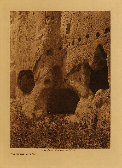 volume 17  facing: page  32 Cave-dwellings at Puye