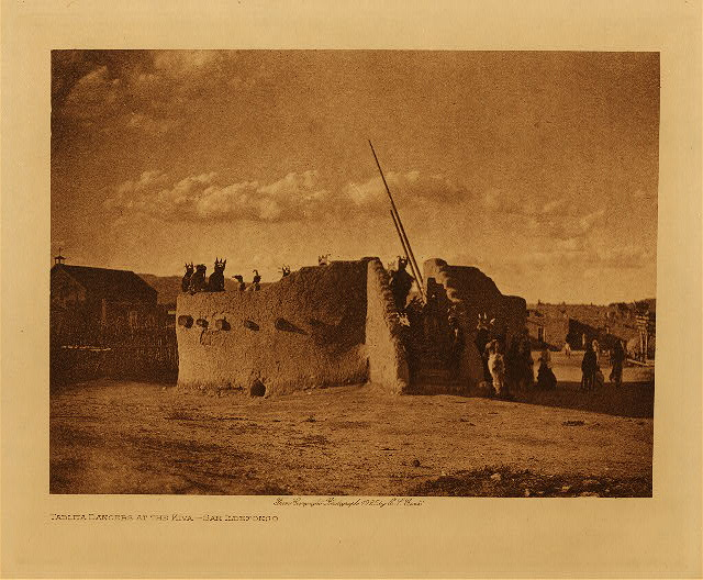 volume 17  facing: page  68 Tablita dancers at the kiva - San Ildefonso