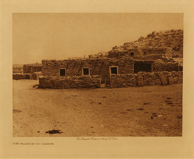 volume 17  facing: page  98 Zu&ntilde;i village at Ojo Caliente