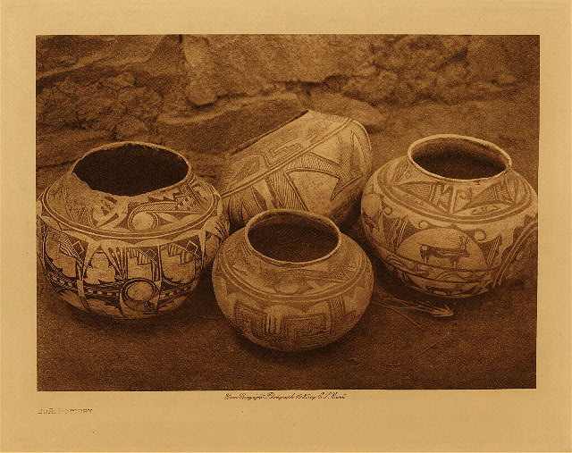 volume 17  facing: page  102 Zuñi pottery