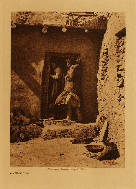 volume 17  facing: page  104 A Zuñi doorway