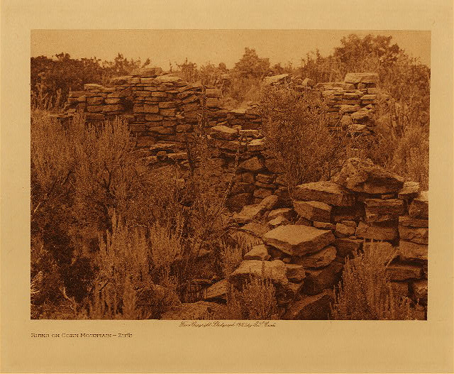 volume 17  facing: page  108 Ruins on Corn Mountain - Zuñi