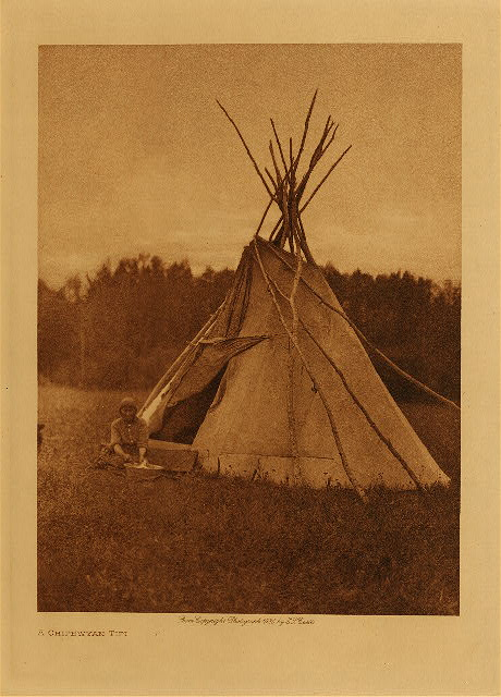 volume 18  facing: page  4 A Chipewyan tipi