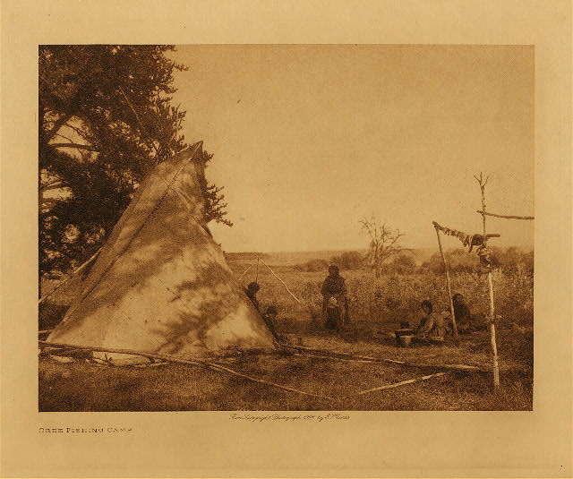 volume 18  facing: page  20 Cree fishing camp